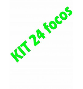 kit 24 focos completo
